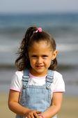 Happy child on beach — Stock Photo