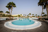 Pool at hotel resort — Foto Stock