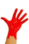 Tinta vermelha por lado — Foto Stock