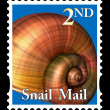 Snail mail stamp — Foto de Stock