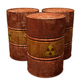 Toxic Waste Drums — Stock Photo