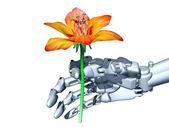 Romantic robot — Stock Photo