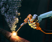 Deep sea maintenance — Stock Photo