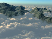 Mountain tops from above the clouds — Foto de Stock