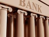 Nakładające banku — Zdjęcie stockowe