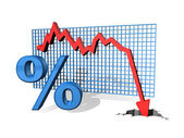 Percentage Down — Stock Photo