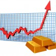Gold chart — Stock Photo