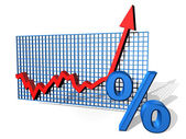 Percentage chart — Stock Photo