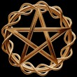 Golden pentagram - Foto Stock