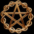 Golden pentagram — Stock Photo #6688610