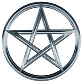 Silver pentagram — Stock Photo