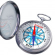 Isolated moral compass — Stockfoto