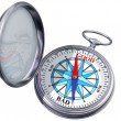 Stock Photo: Isolated moral compass