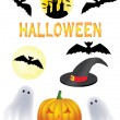 Halloween clipart — Stock Vector