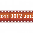 New year filmstrip — Stock Vector
