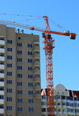 Bygga crane — Stockfoto