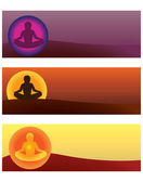 Yoga illustrations — Stock Vector