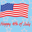Happy 4th of July — Vector de stock #5893665