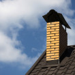 Chimney on a roof of house — Stock Photo