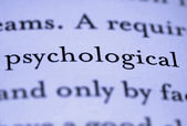 Word psychological in text — Stock Photo