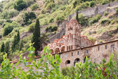 Church in Greek Byzantine town Mystras — Stock Photo