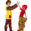 Couple funny clowns — Stock Photo