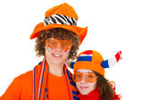 Boy is supporting the Dutch — Foto Stock