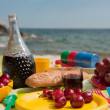 Royalty-Free Stock Photo: Picnic at the beach