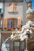 Romantic French fountain — Stock Photo