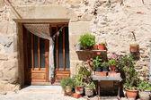 西班牙在房子的门 — 图库照片