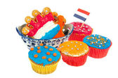 Dutch cookies in bowl — Stock Photo