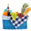 Picnic basket with healthy food — Stock Photo