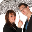 Under the umbrella — Stock Photo