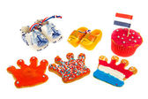 Dutch cookies and wooden clogs — Stock Photo
