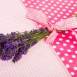 Bouquet Lavender on dotted background — Stock Photo