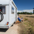 Stock Photo: Journey by mobile home