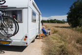Journey by mobile home — Stock Photo