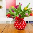 Interior with tulips — Stock Photo