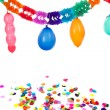 Paper chains and balloons — Stock Photo #6014064