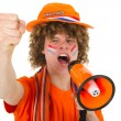 Boy is supporting the Dutch — Stock Photo