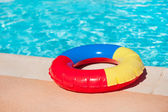 Toy swimming tire — Stock fotografie