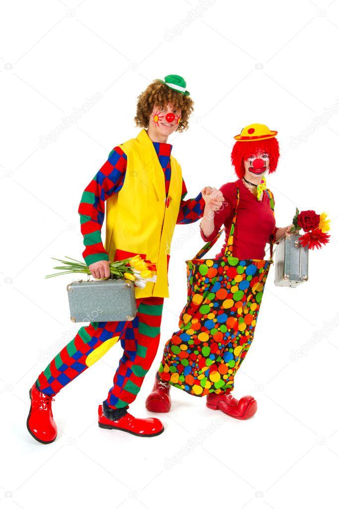 lustige reisen clowns stockfoto ivonnewierink 6380295. Black Bedroom Furniture Sets. Home Design Ideas