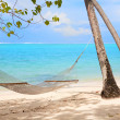 Hammock at tropical beach — Stock Photo