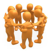 Together forming a huddle . — Stock Photo