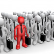 Standing Out Of The Crowd — Stock Photo