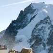 Stock Photo: Atop Aiguille du Midi, France