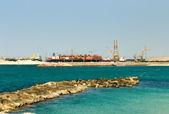 Shipping Terminal, Dubai, United Arab Emirates — Stock Photo