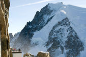 Atop Aiguille du Midi, France — Stock Photo