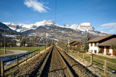 Ferrovia alpina — Foto Stock
