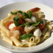 Prawns with Chilli and Penne — Stock Photo